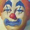 "Oil painting on canvas""Clown- 2""Moulier"" Early 1940-50"