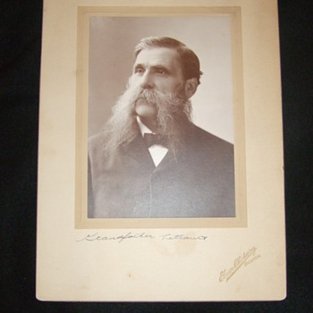 Photograph of man with great moustache OR sideburns