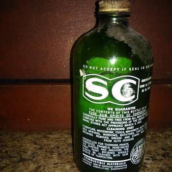 SC gum tupentine green bottle - Bottles