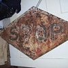 Any Help identifing this? Railroad Diamond Cast Iron STOP Sign