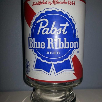 Pabst Blue Ribbon Beer Glass