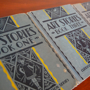 Art Stories, vintage school art books - Books