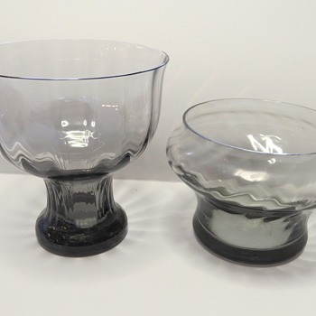 Wedgwood Smokey Glass Vases - Frank Thrower - Glassware