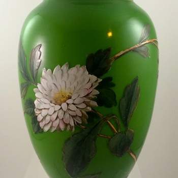 Harrach (attrib.) enameled vase, ca. 1890s - Art Glass
