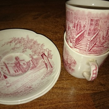 my Pink Johnson bros 'Haddon Hall' espresso set - China and Dinnerware