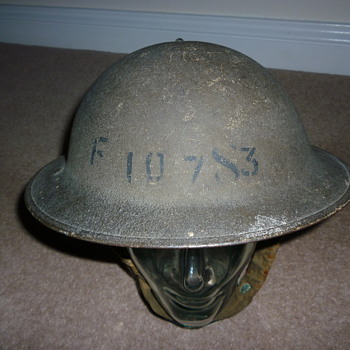 WW11 British factory guard helmet - Military and Wartime
