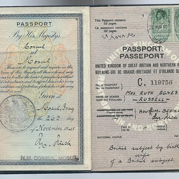 1941 British passport from Mosul - Paper