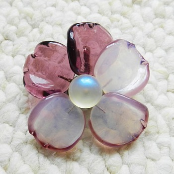 Vintage CHANEL Glass Camelia Brooch - Unique Piece - Fine Jewelry