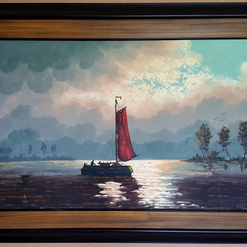 Oil on Canvas Painting by Van der Vect - Visual Art