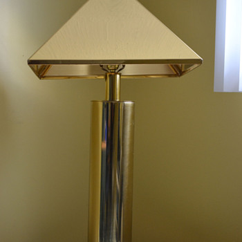 Signed Curtis Jere Brass Lamp Shade and Base?