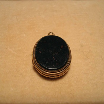 Victorian Rolled Gold Mini Locket or Watch FOB