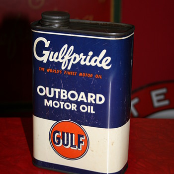 gulf oil can - Petroliana