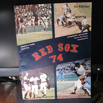 First Edition of Red Sox 1974 - Paper