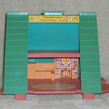 1974 Fisher Price Play Family A-Frame - Toys