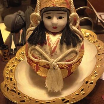 Ostrich Egg Geisha Doll