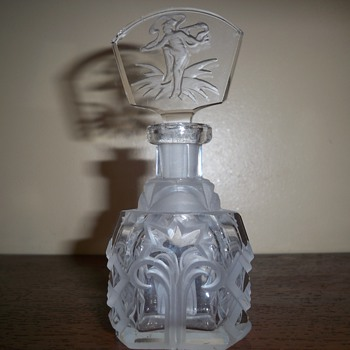 Intaglio Czech perfume bottle