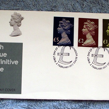 1977-post office-first day issue-high value difinitive-£5-£2-£1.