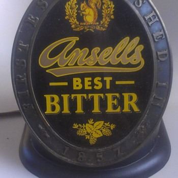 VINTAGE ANSELL'S BEST BITTER BAR LIGHT - Breweriana