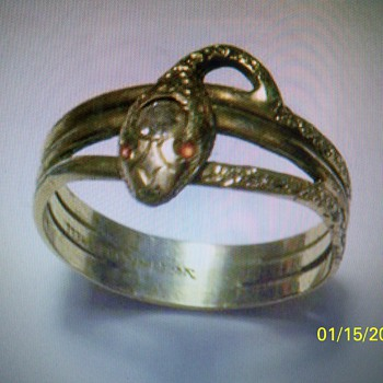 VICTORIAN SNAKE RING...FOUND METAL DETECTING