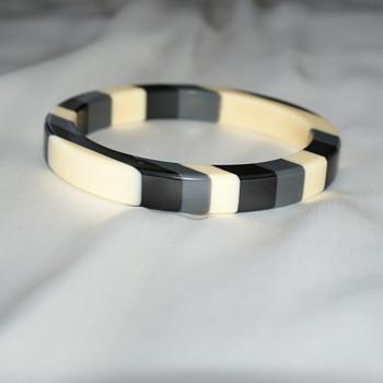 Plastic Bangle:  Laminated? - Costume Jewelry