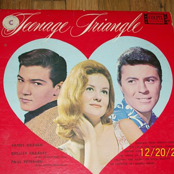 "LP "" Teenage Triangle "" 1963  Shelley Fabares, James Darren and Paul Petersen - Records"