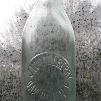 J.W. Mulberry Blob Top Soda - Bottles