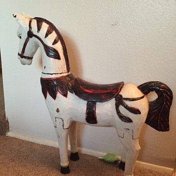 Wooden Hand carved horse