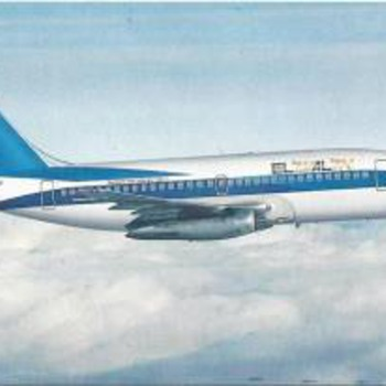 EL AL 737-200 Postcard 1984 