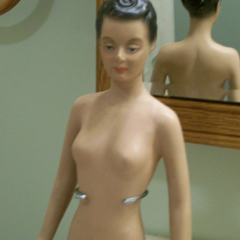 1940's 17  inch Store display Miniature Mannequin  - Advertising