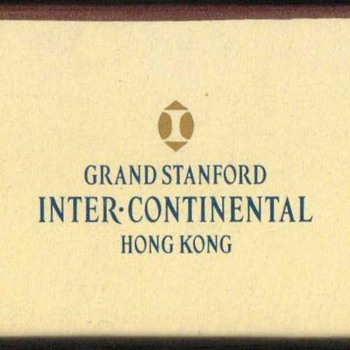 2001 - Grand Stanford Hotel, Hong Kong - Matchbox - Tobacciana