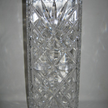 Brilliant Cut Glass square antique vase