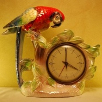 Jema Holland (470) Single Macaw Clock Lge