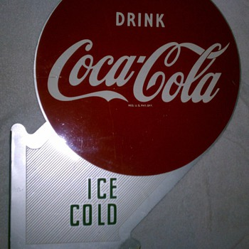 Coke Cola 1940 and 1958 flange signs