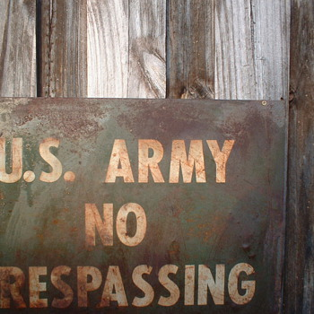 U S Army Sign - Signs