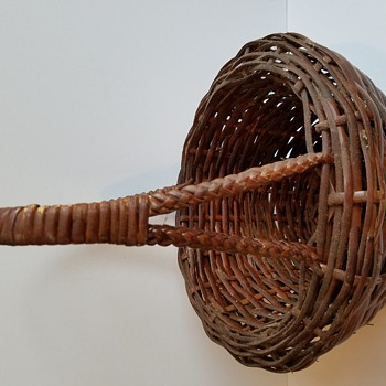 Double Walled Wicker Basket with Detailed Handle