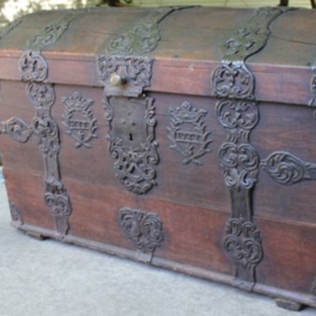 Extremely Rare Cir.1762 Sea Chest-Provenance & Sur Names-All Original!