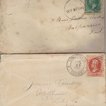 Great Grandma's letters - Stamps