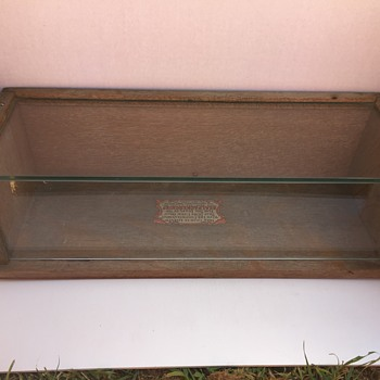 SEALPACKERSCHIEF OAK DISPLAY CASE