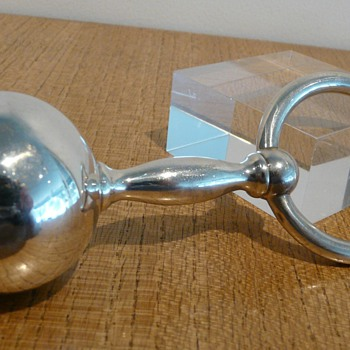A TIFFANY &amp; CO SILVER RATTLE/TEETHER