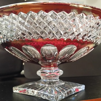 Ruby Red Glass Bowl - Glassware