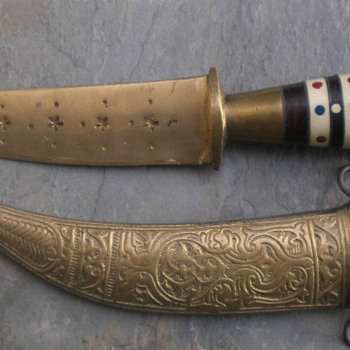 CEREMONIAL DAGGER KNIFE?? INDIA? ARABIA? ELSEWHERE? - Tools and Hardware