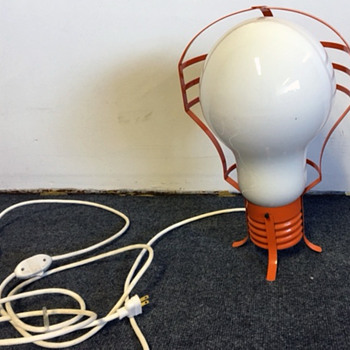 Mid Century Modern Light Bulb Lamp