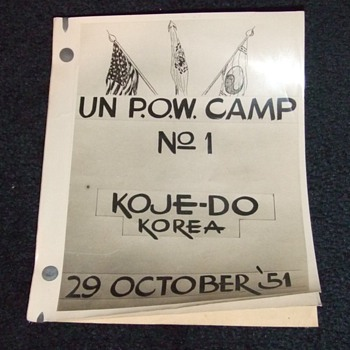 UN POW Camp No. 1 Koje- Do Korea vistors briefing booklet - Military and Wartime