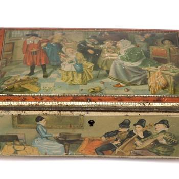 ancienne boîte de confiseur en tôle lithographiée. 1ère moitié du XXeme siècle