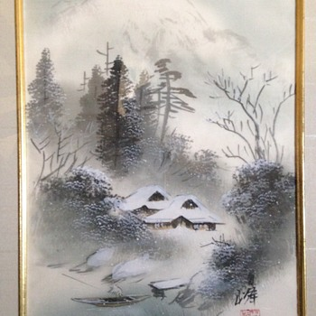 2 Japanese Watercolours on Silk - Visual Art