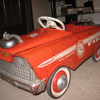 My Fire truck pedal car (a cherished childhood toy) - Firefighting