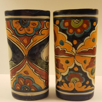 Cute Talavera Art Pottery Vases