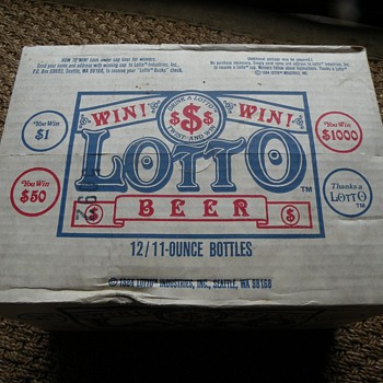 "Unopened 12 Pack of ""Lotto Beer"", from 1984 Seattle, WA - Breweriana"