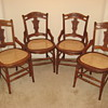 Set of 4 American wood and caned chairs that I just refinished and re-caned