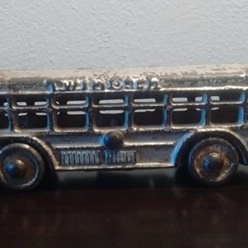 "A.C Williams Cast Iron ""Twin Coach"" Bus  - Toys"